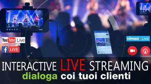 live streaming diretta YouTube, Facebook